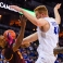 Arizona State's Willie Atwood (2) is struck in the face by the foot of Creighton's Geoffrey Groselle (41), who was coming down from a dunk, during the second half of an NCAA college basketball game in Omaha, Neb., Wednesday, Dec. 2, 2015. Arizona State won 79-77. (AP Photo/Nati Harnik)