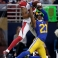 St. Louis Rams cornerback Janoris Jenkins (21) breaks up a pass intended for Arizona Cardinals wide receiver Michael Floyd during the second quarter of an NFL football game on Sunday, Dec. 6, 2015, in St. Louis. (AP Photo/Tom Gannam)