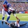 Buffalo Bills wide receiver Sammy Watkins (14) makes a touchdown catch on a pass from Tyrod Taylor, not pictured, as Houston Texans strong safety Kevin Johnson (30) defends during the first half of an NFL football game, Sunday, Dec. 6, 2015, in Orchard Park, N.Y. (AP Photo/Bill Wippert)