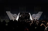 Pedestrians stroll over the millenium bridge in London, Tuesday, Feb. 16, 2016. Temperatures dropped below zero overnight and daytime showed a clear blue sky with bright sunshine. (AP Photo/Frank Augstein)
