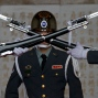 A member of the Taiwanese honor guard takes part in a change of duty ceremony at the Chiang Kai-shek Memorial Hall in Taipei, Taiwan on Friday, Jan. 15, 2016. (AP Photo/Ng Han Guan)