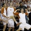 Texas forward Ryan McClurg (30) and teammates celebrate from the bench during the second half of an NCAA college basketball game against Oklahoma, Saturday, Feb. 27, 2016, in Austin, Texas. Texas won 76-63. (AP Photo/Eric Gay)