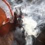 "A Hindu holy man smokes marijuana at the courtyard of the Pashupatinath temple during ""Shivaratri"" festival in Kathmandu, Nepal, Monday, March 7, 2016. ""Shivaratri,"" or the night of Shiva, is dedicated to the worship of Lord Shiva, the Hindu god of death and destruction. (AP Photo/Niranjan Shrestha)"