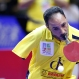 Egyptian Para Table Tennis champion Ibrahim Hamato returns a shot during his exhibition match ahead of the finals of the World Team Table Tennis Championship in Kuala Lumpur, Malaysia, Sunday, March 6, 2016. (AP Photo/Vincent Thian)