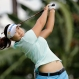 Lee Mirim of South Korea tees off on the 3rd hole during the third round of the HSBC Women's Champions Golf tournament on Saturday, March 5, 2016, in Singapore. (AP Photo/Wong Maye-E)