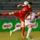 Jang Kuk Chol (3) of North Korea and James Younghusband (2) of the Philippine Azkals battle for ball possession during the 2018 FIFA World Cup Russia and AFC Asian Cup UAE 2019 Preliminary Joint Qualification soccer match in Manila, Philippines, Tuesday, March 29, 2016. The Philippines won 3-2 to qualify for the second round of the AFC Asian Cup preliminary. (AP Photo/Bullit Marquez)