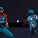 Bangladesh's captain Mashrafe Mortaza, left, watches the ball after teammate Mohammad Mithun, right, dropped the catch of Australia's Shane Watson during their ICC World Twenty20 2016 cricket match in Bangalore, India, Monday, March 21, 2016. (AP Photo/Aijaz Rahi)