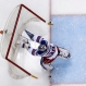 New York Rangers goalie Henrik Lundqvist (30) pushes over the goal cage to force a stoppage of play after being shaken up in a collision with teammate Ryan McDonagh during the second period an NHL hockey game against the Pittsburgh Penguins in Pittsburgh, Thursday, March 3, 2016. The Penguins won 4-1. (AP Photo/Gene J. Puskar)