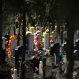 A man cleans a tomb of his deceased relatives at the Babaoshan cemetery on the Qingming Festival in Beijing, Sunday, April 3, 2016. Qingming festival, also known as the Grave Sweeping Day, is a day when Chinese around the world remember their dearly departed and take time off to clean up the tombs and place flowers and offerings. (AP Photo/Andy Wong)