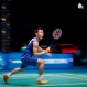 Lee Chong Wei of Malaysia returns a shot to Viktor Axelsen of Denmark during their men's singles quarterfinal match at the Malaysia Open Badminton Superseries in Shah Alam , Malaysia, Friday, April 8, 2016. (AP Photo/Joshua Paul)