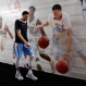 North Carolina's Justin Jackson walks down to the interview room for a news conference for the NCAA Final Four tournament college basketball championship game, Sunday, April 3, 2016, in Houston. North Carolina will play Villanova in the championship game on Monday. (AP Photo/Eric Gay)
