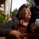 Victoria Rodriguez, 83, the mother of inmate Venancio, cries outside Tacumbu jail where a fire broke out at the overcrowded facility in Asuncion, Paraguay, Friday, June 10, 2016. Authorities say the fire was caused by a short circuit in the art workshop and that the only person who died in the blaze was Blas Gaona, the prison's security chief. (AP Photo/Jorge Saenz)