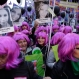 """Demonstrators holding photos of victims of gender violence march outside the National Congress in Buenos Aires, Argentina, Friday, June 3, 2016. Thousands marched under the Spanish slogan #niunamenos, which in English means """"not even one less."""" Women's rights group Casa del Encuentro reports 275 femicides or gender-based killing of women in the past year. (AP Photo/Victor R. Caivano)"""