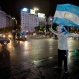 Argentina's fan stands in the middle of 9 de Julio Avenue after ending the Copa America Centenario final match against Chile in Buenos Aires, Argentina, Monday, June 27, 2016. Chile won, 4-2, in penalty shoots. (AP Photo/Natacha Pisarenko)