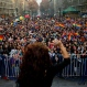 People watch a singer perform during the 16th annual gay pride celebrations to mark the upcoming International Gay Pride Day, and to honor the victims of the Orlando nightclub shooting, in Santiago, Chile, Saturday, June 25, 2016. Marchers are also demanding laws in favor of same sex marriage and gender identity. (AP Photo/Esteban Felix)
