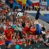 Spain's Aritz Aduriz, right, attempts an overhead kick at goal during the Euro 2016 Group D soccer match between Spain and the Czech Republic at the Stadium municipal in Toulouse, France, Monday, June 13, 2016. (AP Photo/Manu Fernandez)