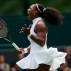 Serena Williams of the U.S celebrates a point against Amara Safikovic of Switzerland during their women's singles match on day two of the Wimbledon Tennis Championships in London, Tuesday, June 28, 2016. (AP Photo/Ben Curtis)