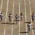 Barefoot runners wearing tunics take part in a footrace in the ancient stadium of Nemea, southwest of Athens on Saturday, June 11, 2016. Fifty-five days before the Games begin in Rio de Janeiro, participants from around the world are taking part in very different kind of sporting tournament. The races, only include a 90 meter sprint on a straight dirt course at a 2,300-year-old stadium and a 7.5 kilometer run through fabled olive groves and vineyards, where in ancient Greek mythology Hercules, god of strength, sport and fertility, slayed a fearsome lion. (AP Photo/Yorgos Karahalis)