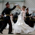 Russian cadets dance the waltz during a graduation ceremony in Moscow, on Saturday, June 25, 2016. After giving the oath to the Russian flag, girls and boys - graduates of Moscow cadet schools - received their diplomas during the official ceremony held inside of the Moscow Kremlin. (AP Photo/Ivan Sekretarev)