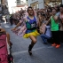 A competitor runs during the Gay Pride High Heels race in Madrid, Thursday, June 30, 2016. (AP Photo/Francisco Seco)