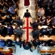 The procession with the casket of Christopher Andrew Leinonen, one of the victims of the Pulse nightclub mass shooting, enters the Cathedral Church of St. Luke for his funeral service Saturday, June 18, 2016, in Orlando, Fla. (AP Photo/David Goldman)