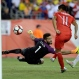 Peru's Raul Ruidiaz (11) scores a goal past Brazil's goalkeeper Alisson (1) in the second half of a Copa America Group B soccer match on Sunday, June 12, 2016, in Foxborough, Mass. (AP Photo/Charles Krupa)
