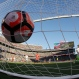 Mexico goalkeeper Guillermo Ochoa, bottom right, is beaten for a goal on a shot from Chile's Edson Puch during the first half of a Copa America Centenario quarterfinal soccer match at Levi's Stadium in Santa Clara, Calif., Saturday, June 18, 2016. (AP Photo/ Marcio Jose Sanchez)