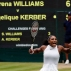 Serena Williams of the U.S celebrates after winning the first set Angelique Kerber of Germany during the women's singles final on day thirteen of the Wimbledon Tennis Championships in London, Saturday, July 9, 2016. (AP Photo/Ben Curtis)