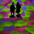 Visitors enjoy the interactive installation 'Onda Pixel' by French artist Miguel Chevalier, during its opening in Milan, Italy, Tuesday, July 26, 2016. (AP Photo/Luca Bruno)