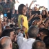 US President Barack Obama greets a young girl as he meets troops, during a visit to Naval Station Rota in Cadiz, Spain, Sunday, July 10, 2016. Obama made a brief visit to Madrid and Naval Station Rota before heading back to Washington following the NATO Summit in Warsaw, Poland. (AP Photo/Susan Walsh)