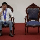 """Philippine President Rodrigo Duterte listens during the """"Assumption of Command"""" of new Police Chief, Director General Ronald Dela Rosa at Camp Crame, Philippine National Police headquarters, in suburban Quezon city, Manila, Philippines on Friday, July 1, 2016. Duterte, who was sworn in as the Philippines' 16th president, has given himself a colossal campaign promise to fulfill, eradicating crime especially drug trafficking, smuggling, rapes and murder in three to six months. (AP Photo/Aaron Favila)"""