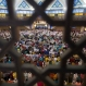 Muslims pray during morning prayer for Eid al-Fitr, marking the end of the holy month of Ramadan, at the National Mosque in Kuala Lumpur, Malaysia, Wednesday, July 6, 2016. (AP Photo/Vincent Thian)
