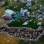A flock of sheep are seen in a pen in the valley of the the northern ski resort village of Laklouk, 2000 meters above sea level, Lebanon on July 15, 2016. (AP Photo/Hassan Ammar)