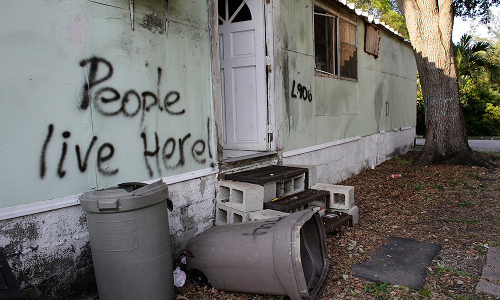 "Evicted at Trailer Park ""Paradise,"" Residents Seek New Homes"